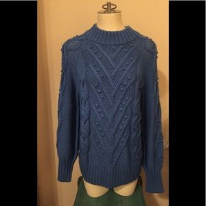 LOFT blue sweater